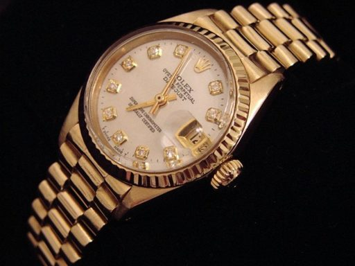 Rolex Yellow Gold Datejust President Diamond 6917 White-3