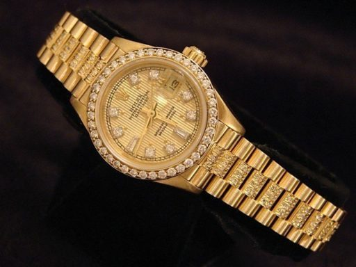 Rolex Yellow Gold Datejust President Diamond 69178 Champagne