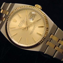 Pre Owned Mens Rolex Two-Tone Oysterquartz Datejust Gold Champagne 17013 (SKU 9067839M)