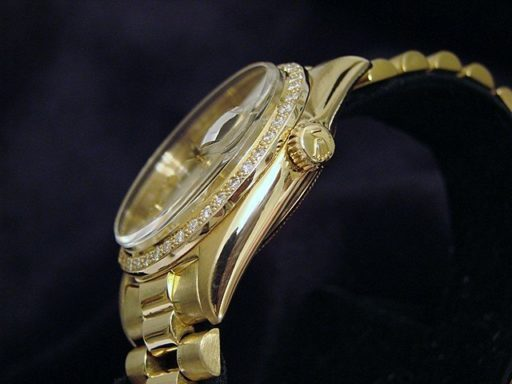 Rolex 18K Yellow Gold Day-Date President 1803 Champagne Diamond-2
