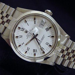 Mens Rolex Stainless Steel Date White Roman 15000 (SKU 7409575MT)