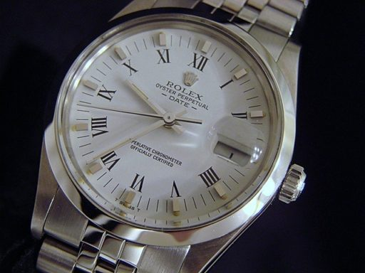 Rolex Stainless Steel Date 15000 White Roman-4