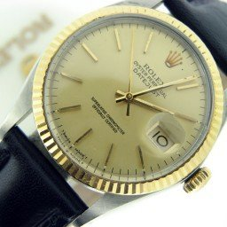 Mens Rolex Two-Tone 18K/SS Datejust Champagne  16013
