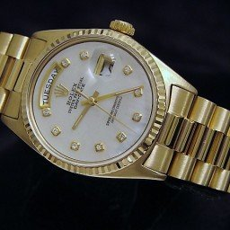 Mens Rolex 18K Gold Day-Date President White MOP Diamond 1803 (SKU 4051267MT)