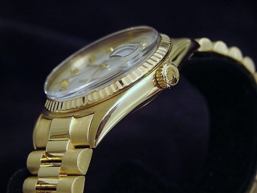 Rolex 18K Yellow Gold Day-Date President 1803 White MOP Diamond-2