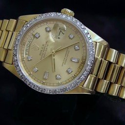Mens Rolex 18K Gold Day-Date President Champagne Diamond 18038 (SKU 8914343MT)