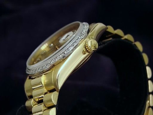Rolex 18K Yellow Gold Day-Date President 18038 Champagne Diamond-3