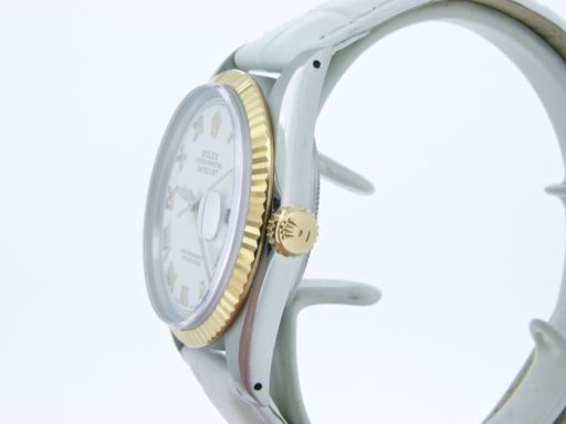 Rolex Two-Tone Datejust 16013 White Roman-4