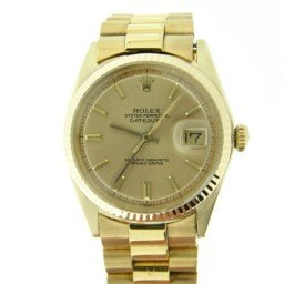 Mens Rolex 18K Yellow Gold Datejust w/Gold Plated Band 1601