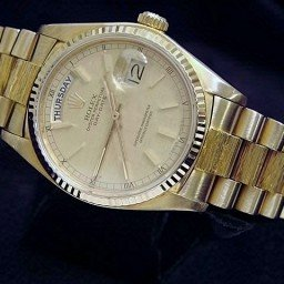 Mens Rolex 18K Gold Day-Date President Linen  18038 (SKU 7133054MT)