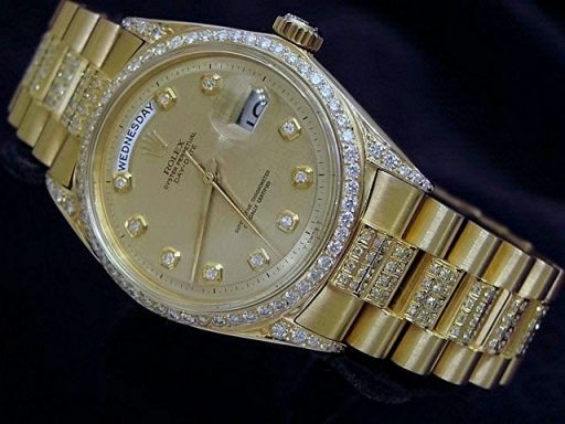 Rolex 18K Yellow Gold Day-Date President 1803 Full Diamond-5