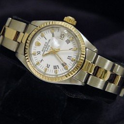 Ladies Rolex Two-Tone 14K/SS Date White Roman 6917 (SKU 4077576AMT)