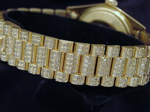 Rolex 18K Yellow Gold Day-Date President 18038 Full Diamond-3
