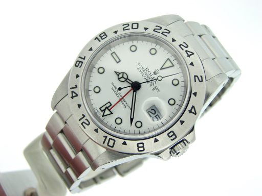 Rolex Stainless Steel Explorer II 16570 White -4