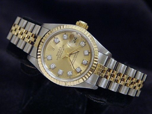 Rolex Two-Tone Datejust 69173 Champagne Diamond-3