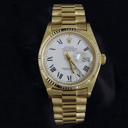 Mens Rolex 18K Yellow Gold Datejust White Roman 16018