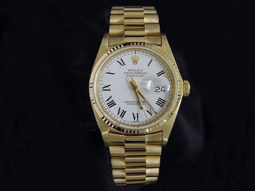 Rolex 18K Yellow Gold Datejust 16018 White Roman-3