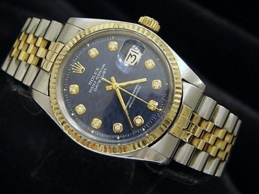 Rolex Two-Tone Datejust 1601 Blue Diamond-3