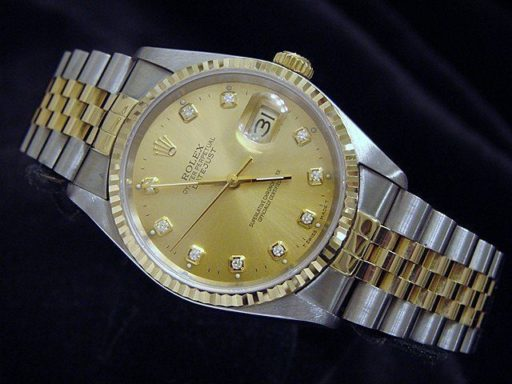 Rolex Two-Tone Datejust 16233 Champagne Diamond-3