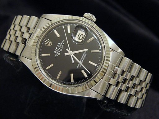 Rolex Stainless Steel Datejust 1601 Black -3