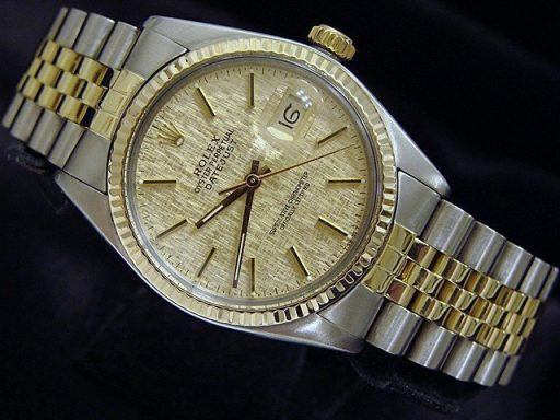 Rolex Two-Tone Datejust 16013 Champagne -2