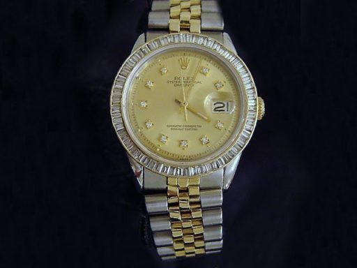 Rolex Two-Tone Datejust 1601 Champagne Diamond-3