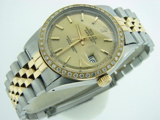 Rolex Two-Tone Datejust 1601 Diamond Champagne-5