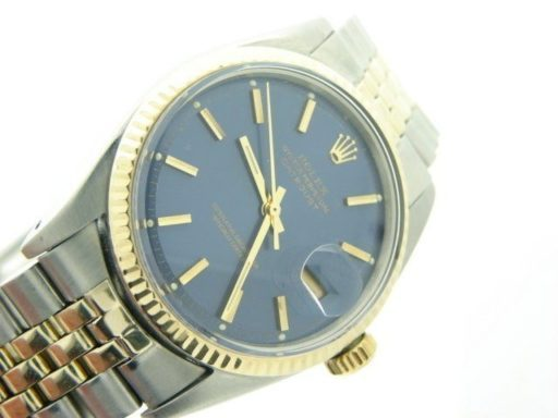 Rolex Two-Tone Datejust 1601 Blue -5