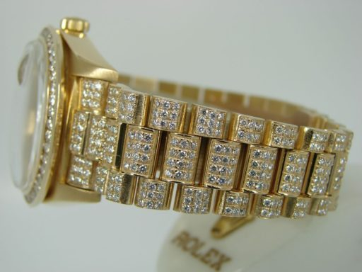 Rolex 18K Yellow Gold Day-Date President 18238 Full Diamond-3
