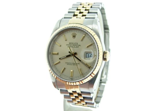 Rolex Two-Tone Datejust 16233 Silver -7
