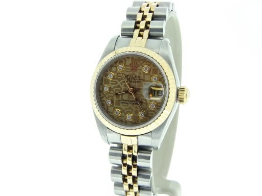 Rolex Two-Tone Datejust 69173 Anniversary Diamond-6