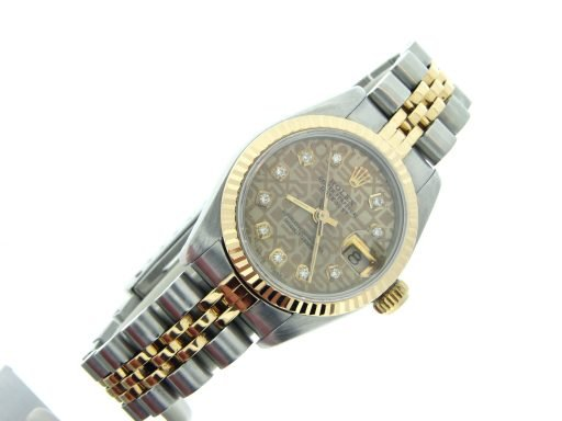Rolex Two-Tone Datejust 69173 Anniversary Diamond-5