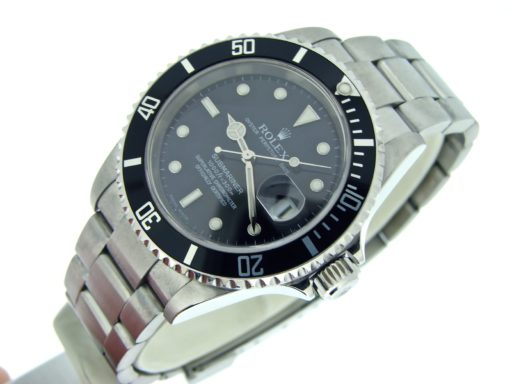 Rolex Stainless Steel Submariner 16610T Black -4