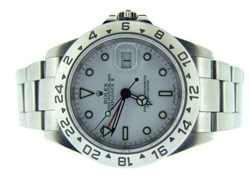 Rolex Stainless Steel Explorer II 16570 White -5