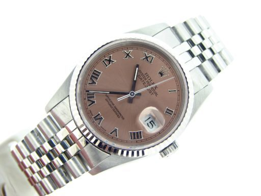 Rolex Stainless Steel Datejust 16234 Salmon Roman-4