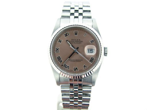 Rolex Stainless Steel Datejust 16234 Salmon Roman-6