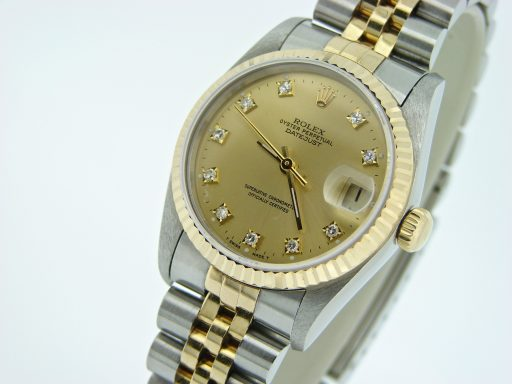 Rolex Two-Tone Datejust 68273 Champagne Diamond-5