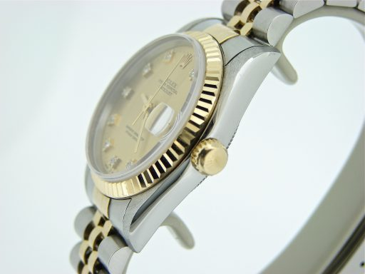 Rolex Two-Tone Datejust 68273 Champagne Diamond-4