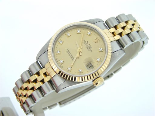 Rolex Two-Tone Datejust 68273 Champagne Diamond-3