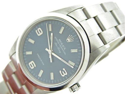 Rolex Stainless Steel Air-King 14000 Blue-4