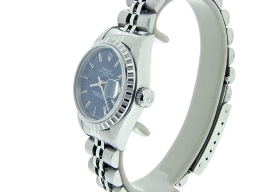 Rolex Stainless Steel Date 69240 Blue -3