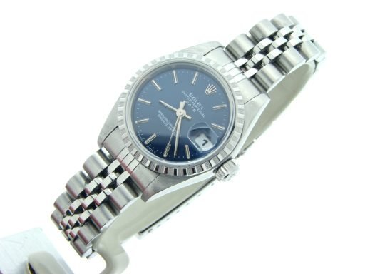 Rolex Stainless Steel Date 69240 Blue -4