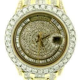 Mens Rolex 18K Gold Day-Date President 37ct Full Diamond 18238