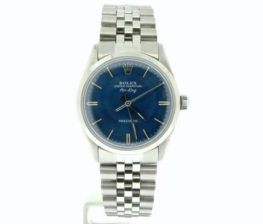Rolex Stainless Steel Air-King 5500 Blue-7