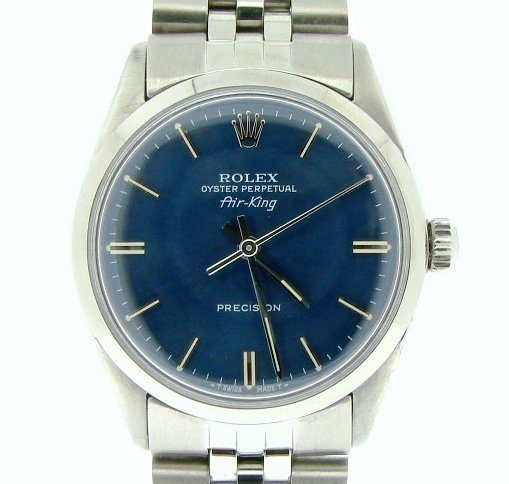 Rolex Stainless Steel Air-King 5500 Blue-1