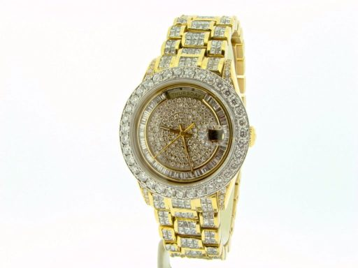 Rolex 18K Yellow Gold Day-Date President 18238 Full Diamond-5