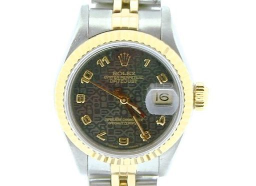 Rolex Two-Tone Datejust 69173 Gray Slate Arabic-1