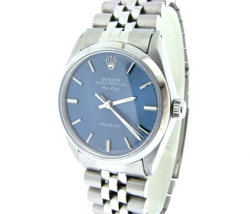 Rolex Stainless Steel Air-King 5500 Blue-6