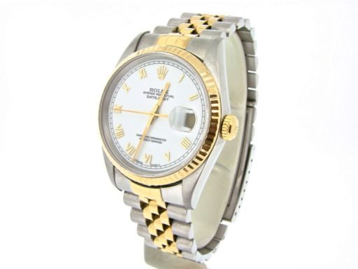 Rolex Two-Tone Datejust 16233 White Roman-6