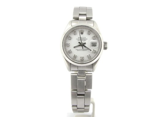 Rolex Stainless Steel Datejust 6916 White Diamond-6